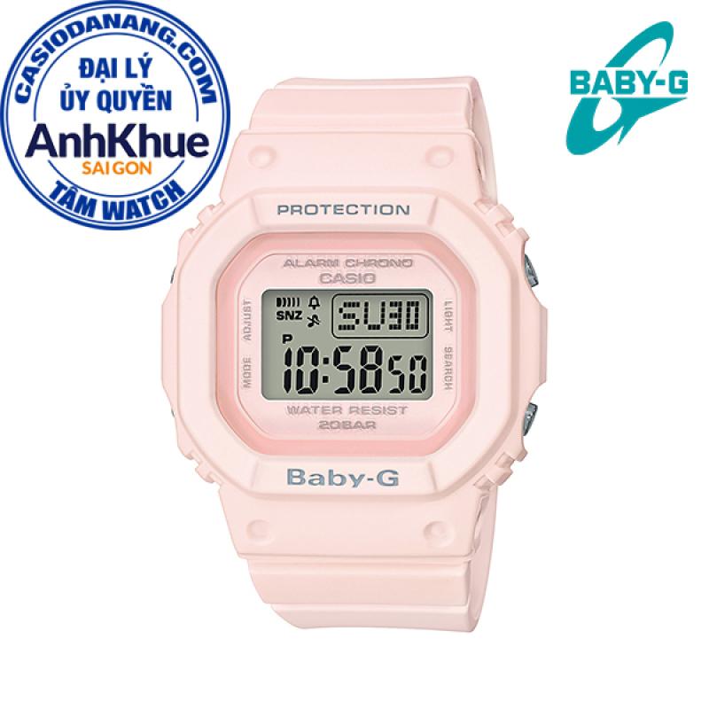 Đồng hồ nữ dây nhựa Casio Baby-G chính hãng Anh Khuê BGD-560-4DR (40mm)