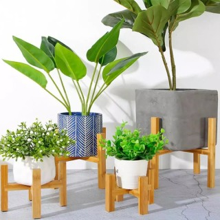 Kệ để chậu cây bằng gỗ tự nhiên - Đôn gỗ để cây cảnh trang trí nhà cửa, sự kiện nhiều kích thước MG01 thumbnail