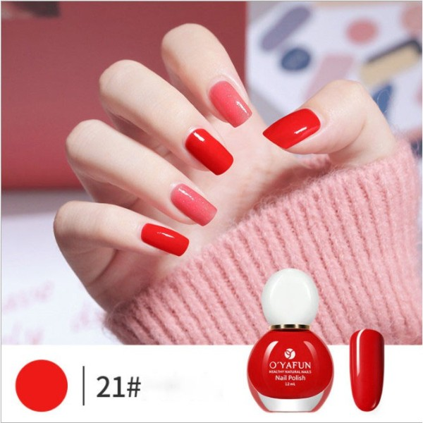[Giá rẻ][Hàng chính hãng][Hàng cao cấp] Sơn móng tay OYAFUN Nail Polish màu mới 2021 - Gốc nước siêu đẹp màu 20 - 40