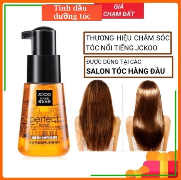 [HCM]Tinh dầu dưỡng tóc uốn dưỡng tóc khô xơ tóc nhuộm Jckoo giúp giữ nếp tạo nếp tóc mềm mượt phục hồi hư tổn