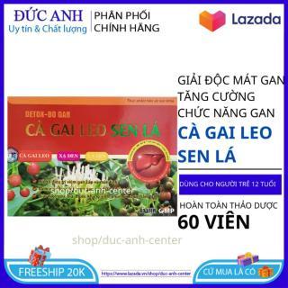 Giải độc mát gan Cà Gai Leo Sen Lá - Detox bổ gan 60 viên tăng cường chức năng gan an toàn hiệu quả thumbnail