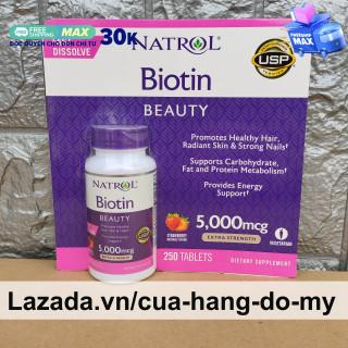 Viên Ngậm Hỗ Trợ Mọc Tóc Biotin 5000mcg Maximum Strength Fast Dissolve 250 Viên - Biotin 5000 mcg thumbnail