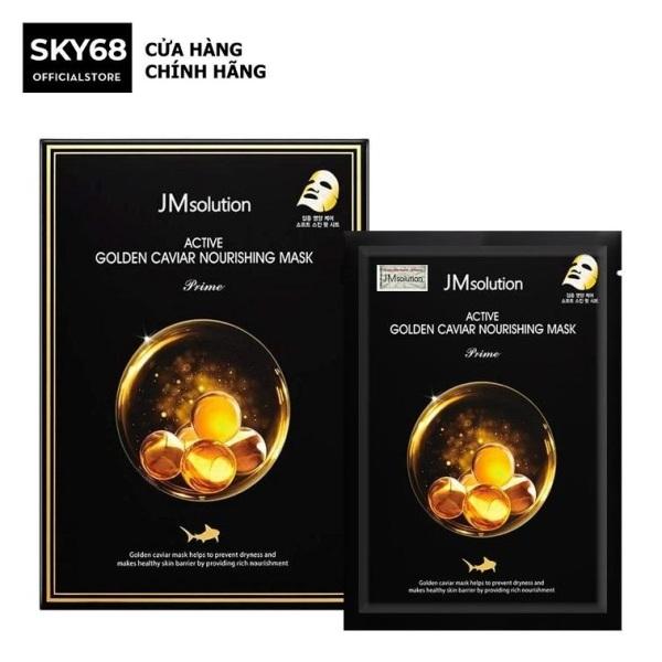 Hộp 10 Mặt Nạ Cấp Ẩm, Ngăn Ngừa Thâm, Nám JM Solution Active Golden Caviar Nourishing Mask 30ml x 10