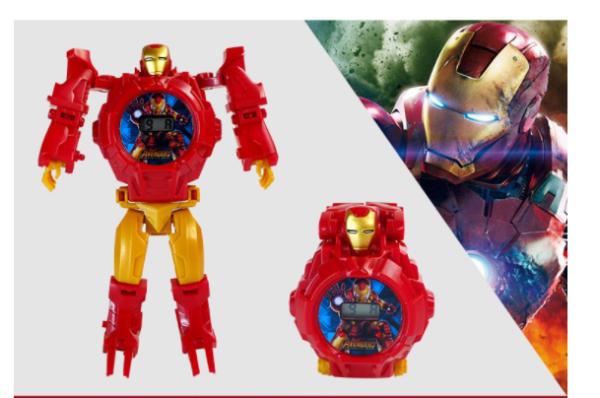 [🔥 ĐỒNG HỒ MỚI NHẤT🔥] Digital Avengers Batman Ultraman Frozen Children's Jam Karnak Đồng hồ đồ chơi có thể chuyển đổi dành cho trẻ em của cô gái và cậu bé bán chạy