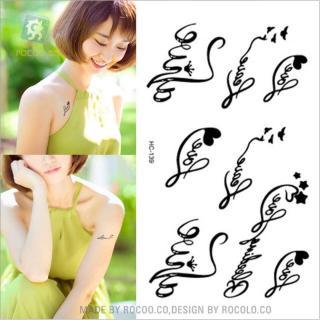 Hình xăm dán tattoo chữ ký tình yêu kích thước 6 x 10 cm - miếng dán sticker đẹp dành cho nữ thumbnail