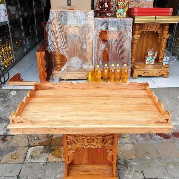 Bảng giá Bàn thờ treo tường gỗ xoan ngang 80 cm gồm 1 bộ ke đế