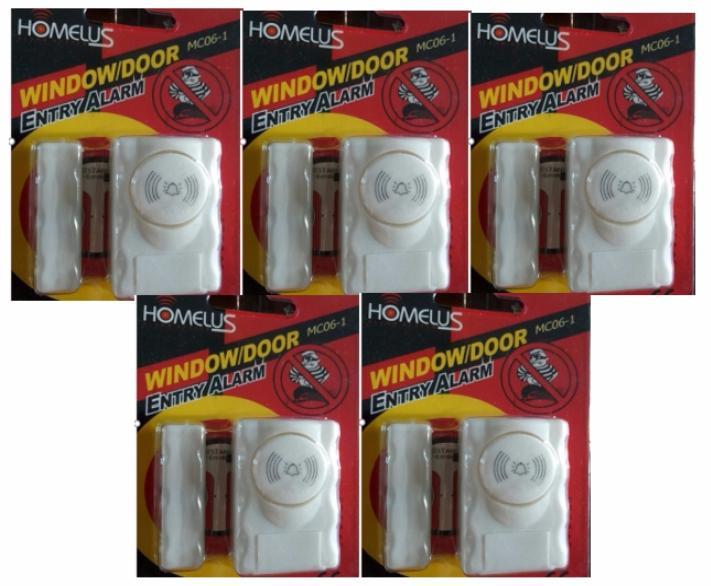 Bộ 5 cảm biến báo động chống trộm gắn cửa ra vào HomeLus MC06-1 (Âm thanh lớn)