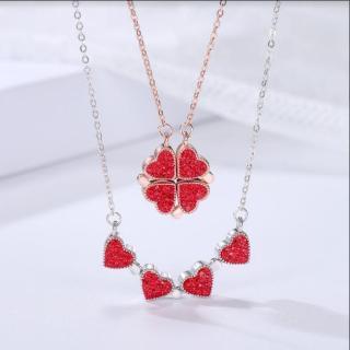 Dây Chuyền Bạc Nữ Dây Chuyền Cỏ Bốn Lá Trái Tim cao cấp cho phái nữ XB-DB38 Bảo Ngọc Jewelry thumbnail