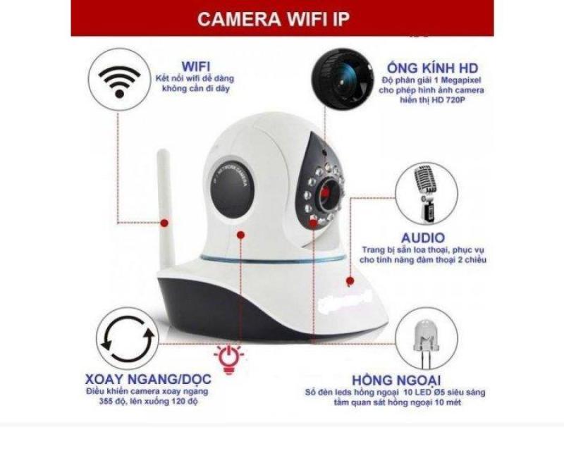 Camera wifi app YOOSEE XOAY 360 ĐỘ 3 RÂU FULL HD 720p Stin shop