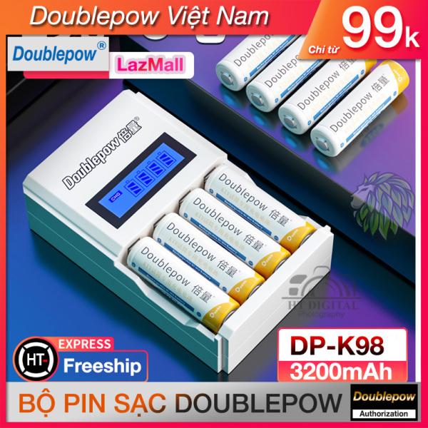 Bộ sạc pin DP-K98 Cao Cấp - Sạc Pin Dung Lượng Cao Cho Thiết Bị Điện Tử - Đồ Chơi Trẻ Em - Micro Karaoke - Pin Đồng Hồ Treo Tường