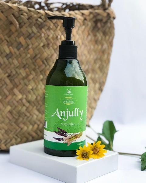 Dầu Xả Organic Anjully Tóc Mượt Tự Nhiên Không Gây Bết Dính nhập khẩu