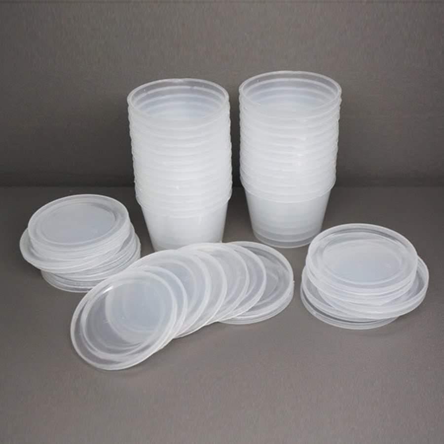 [HCM]Combo 50 hộp nhựa làm bánh flan CÓ NẮP loại lớn (số 0) loại nhỏ  (số 3)