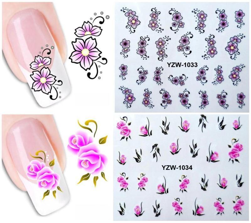 Set 5 hình xăm nước dán móng (nail sticker) mã YZW1001-1040