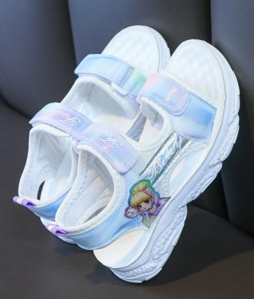 Giá bán Sandal bé gái in hình công chúa - Xăng đan đi học cho bé gái - Mẫu mới BC62