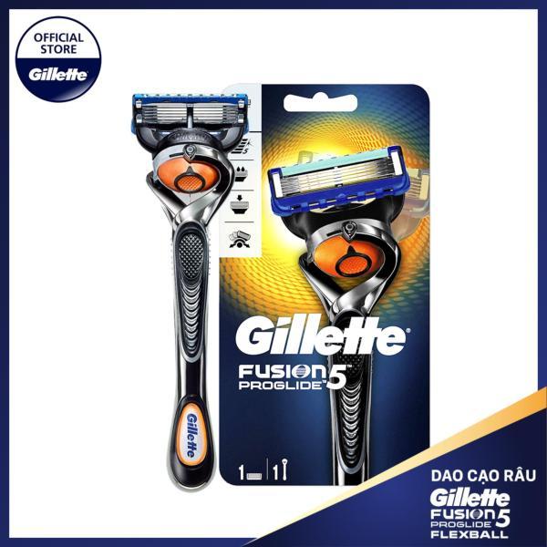 [28.11-03.12 Tặng Túi cá nhân Gillette+Vớ Muji đơn Gillette từ 199k] Dao cạo râu Gillette Fusion5 Proglide Flexball cao cấp