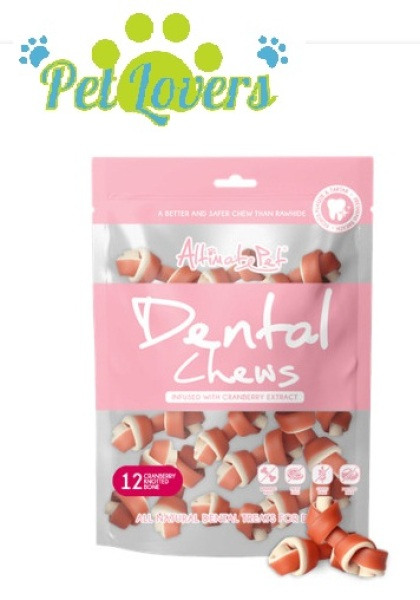 Dental Chews  - Gặm sạch răng thơm miệng - Khúc xương 3 vị gồm  Cranberry , bạc hà , sữa - 150g