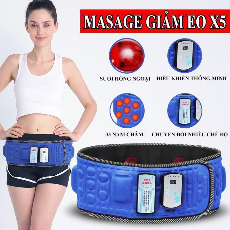 Đai Massage X5 Loại Đắt , Máy Đánh Tan Mỡ , Masage Đa Năng Cao Câp - Bảo hành uy tín 12 tháng trên toàn quốc