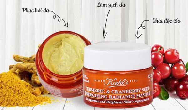 Mặt nạ nghệ Kiehl's (mask nghệ việt quất kiehls) ngăn ngừa và giảm thâm dưỡng trắng turmeric & cranberry seed masque 14ml