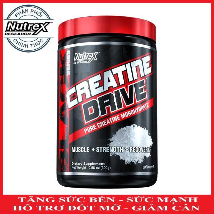 Creatine Drive của Nutrex hỗ trợ Tăng Sức Bền, Sức Mạnh đốt mỡ giảm cân 60 lần dùng - Phân phối chính thức