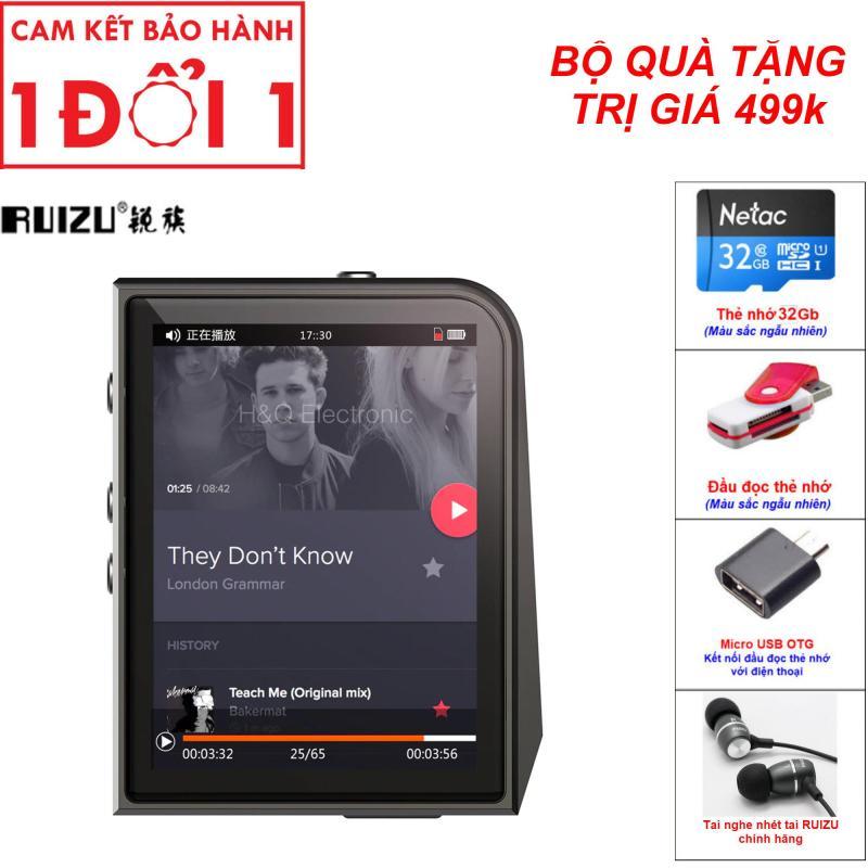 Combo Quà Tặng Trị Giá 499K - Máy nghe nhạc Lossless Ruizu A50 (Công ty nhập khẩu và phân phối trực tiếp) - Máy nghe nhạc MP3 thể thao lossless mini Hifi Ruizu A50 Màn hình 2.5inch - Ruizu A50 Máy nghe nhạc MP3 Lossless cao cấp Ruizu A50