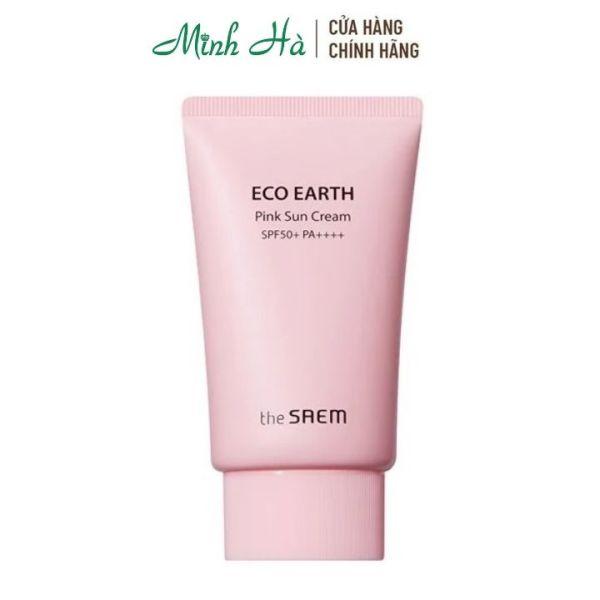 kem chống nắng the saem Eco Earth Pink Sun Cream SPF50+ PA++++ 50g