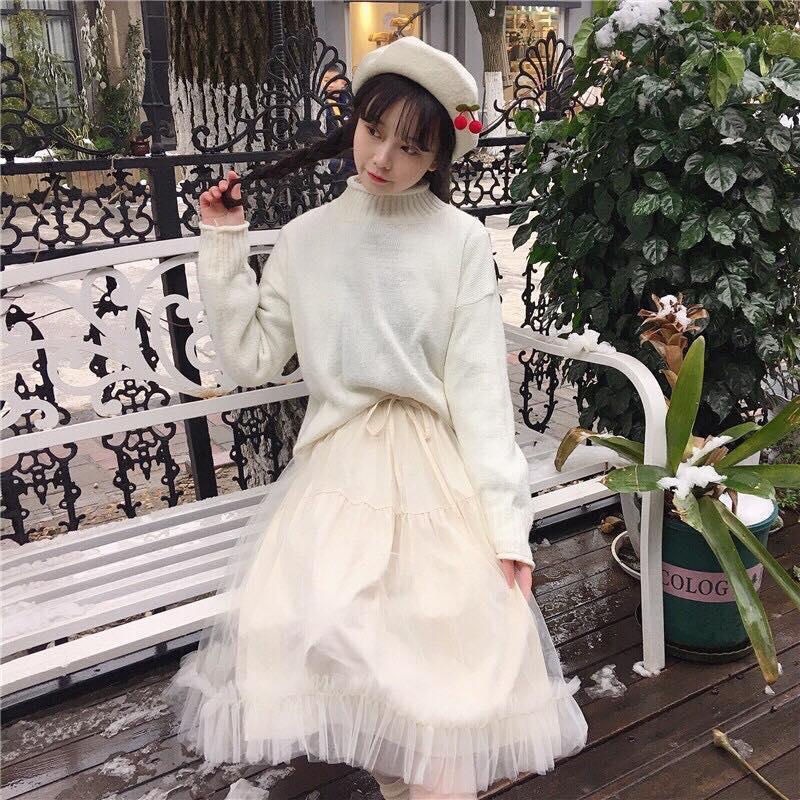 Chân Váy Dài Kiểu Mới Xu Hướng 2020 - MIN Boutiques - Váy Lưới Dài Với Giá Sốc