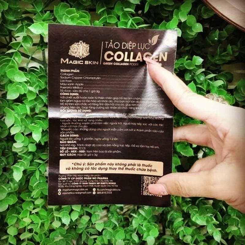 Tảo diệp lục collagen cao cấp