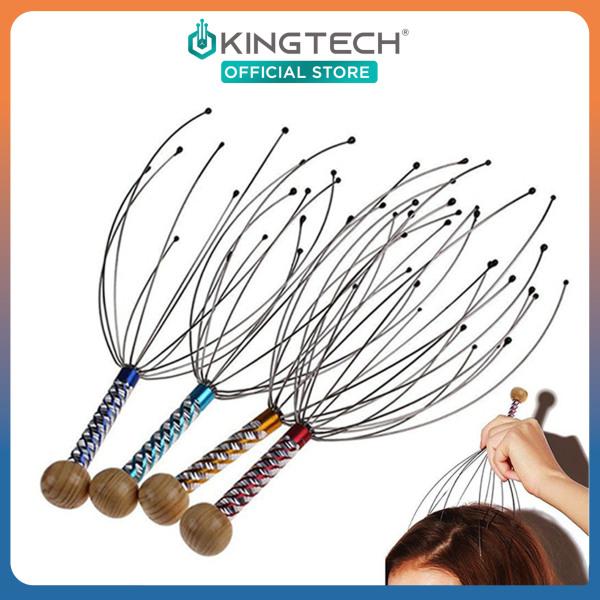 Cây u001du001dmassage đầu bạch tuộc KINGTECH - Dụng cụ mát xa đầu thư giãn, giảm căng thẳng - Giao màu ngẫu nhiên cao cấp
