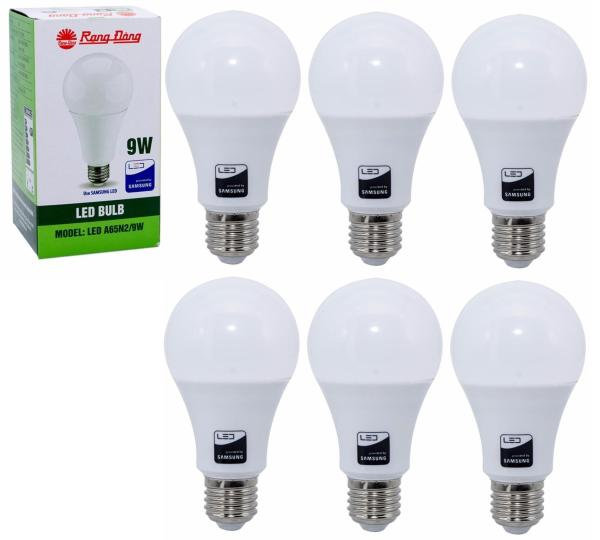 6 Bóng đèn LED Bulb Rạng Đông 9W E27 ChipLed Samsung