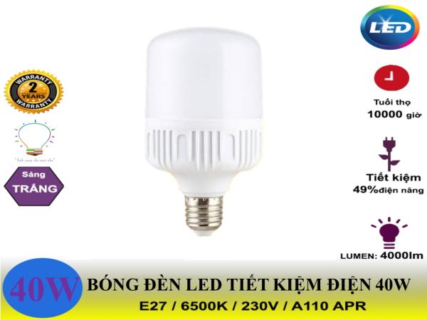 Bóng Đèn Led Trụ 40W Tiết Kiệm Điện Siêu Sáng- Bảo hành 12 tháng đổi mới