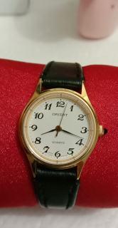 Đồng Hồ Nữ Orient 25mm Mặt tròn, mạ vàng, dây da thumbnail