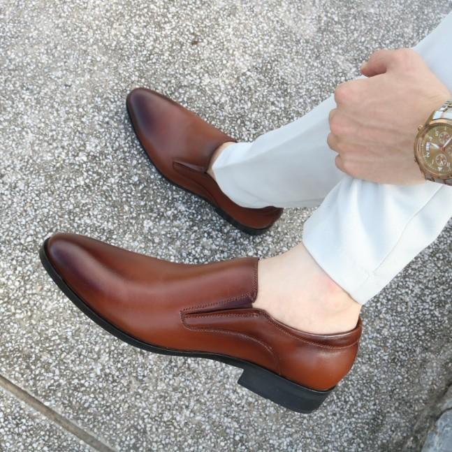 Giày Tây Nam Da Bò Loại Đẹp Da Sịn (Gt33-Na) giá rẻ