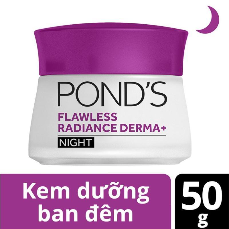 Kem Dưỡng Trắng Cao Cấp Ban Đêm Ponds Flawless Radiance Derma+ Night Cream (50g)