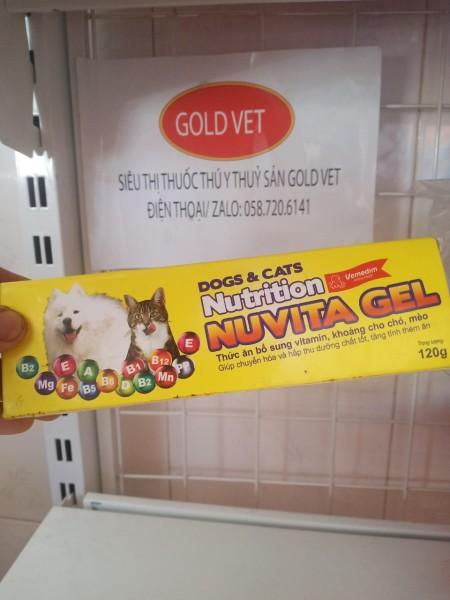 [GIÁ RẺ] Nuvita Gel dinh dưỡng thú cưng chó, mèo bổ sung vitamin, khoáng chất (120 gram)