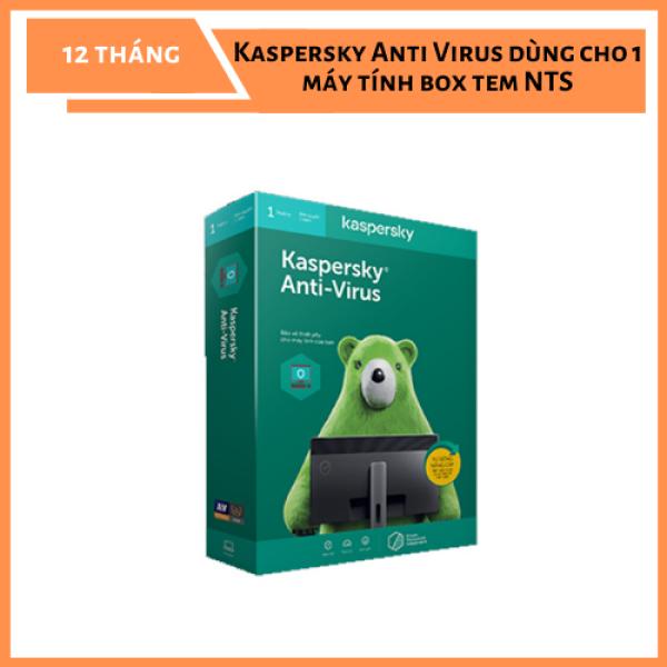 Bảng giá Phần mềm diệt virus Kaspersky Anti Virus dùng cho 1 máy tính box tem NTS Phong Vũ