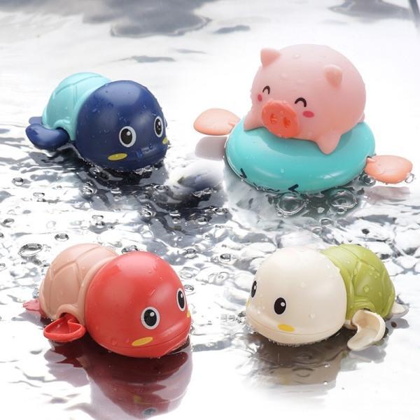 Thú bơi dưới nước ngộ nghĩnh cho bé chạy dây cót không cần pin (rùa, heo, bò, vịt)