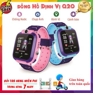 Đồng hồ định vị trẻ em Q20 - Đồng hồ thông minh Q20 Có Sim Nghe Gọi Và Có Tiếng Việt Đặc Biệt Chống Nước Chuẩn I68 thumbnail