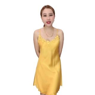 HISEXY Đầm Ngủ Lụa Satin Phối Ren Mặc Nhà MD19 thumbnail