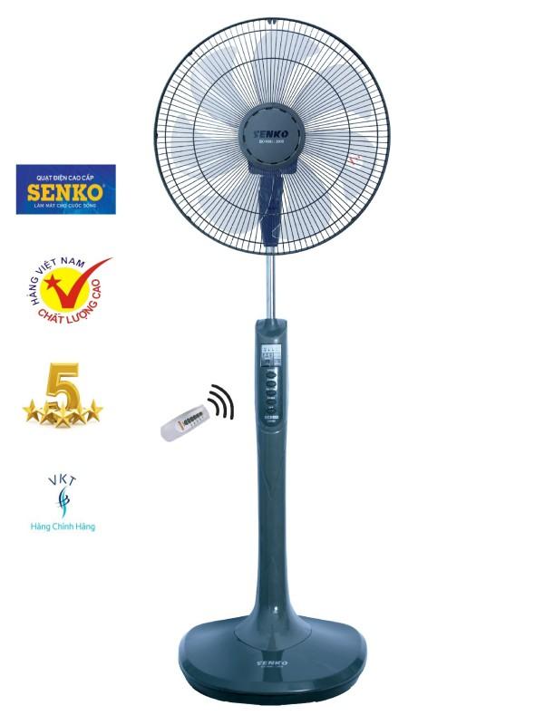 Quạt đứng remote Senko DR1608  F23 sải cánh 39cm 65W (hẹn giờ, điều chỉnh gió) - Hàng Chính Hãng (giao màu ngẫu nhiên)