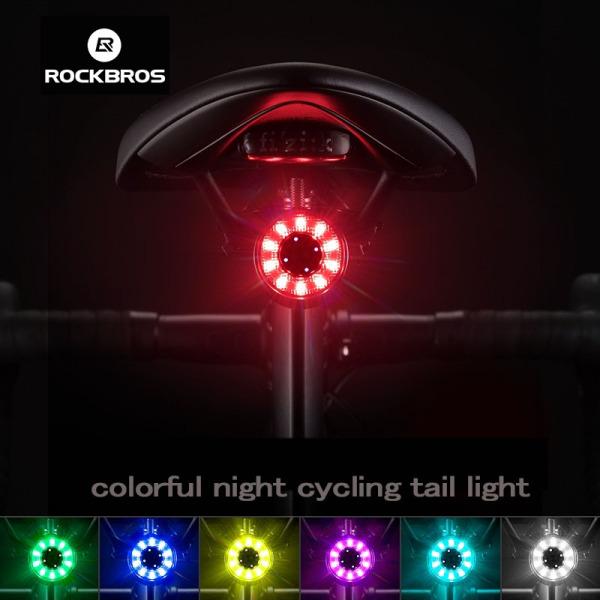 ROCKBROS Đèn Led sạc chống nước phía sau cho xe đạp leo núi báo phanh tự động khởi động và dừng IPx6 - INTL