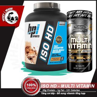 [COMBO] Tăng Cơ Bắp Hồi Phục Cơ Bổ Sung Vitamin ISO HD 5lbs - Platinum Multi Vitamin (90 viên) - Từ Mỹ thumbnail
