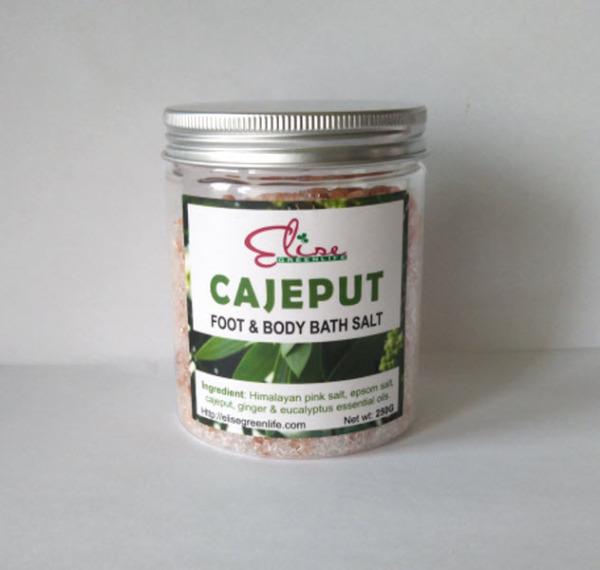 300gr Muối ngâm giải cảm ướp tinh dầu / Cajeput foot & body bath Salt EliseGreenlife. An toàn cho mẹ bầu. Sản phẩm phù hợp tắm bồn và máy ngâm tay, chân giá rẻ