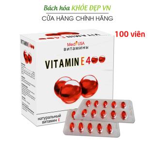Viên Uống đẹp da Vitamin E Đỏ 4000mcg, Aloe vera 500mg chống lão hóa - Hộp 100 viên chống lão hóa da 1