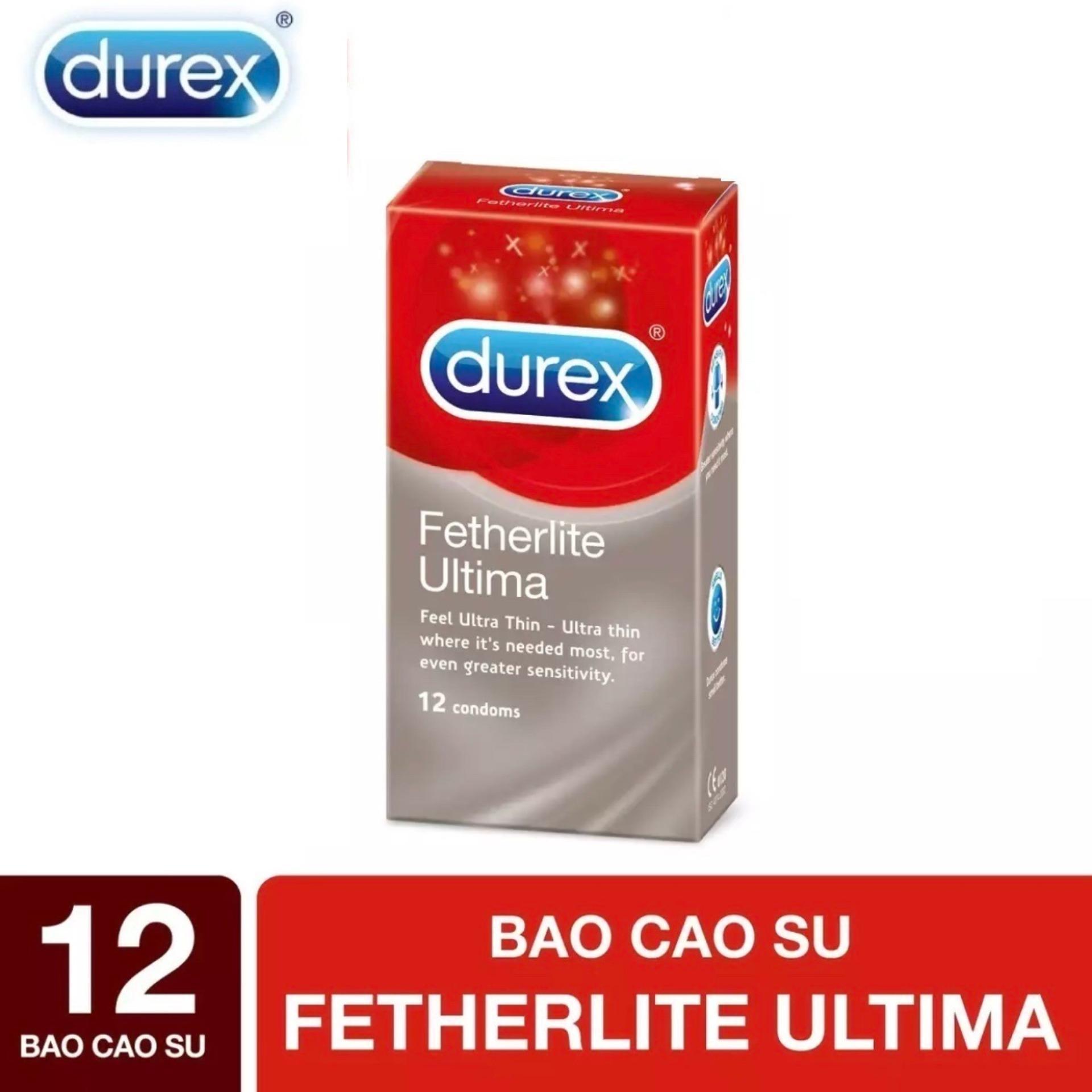 Bao cao su Durex Fetherlite Ultima siêu mỏng 12s [che tên sản phẩm]