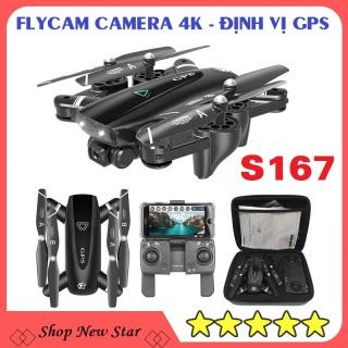 Flycam mini chuyên nghiệp tự bay theo người S167, flycam giá rẻ 100k có camera 4k,cao cấp hơn flycam f11 pro 4k,E58,sg700,e88,F87,D2,XT1 thumbnail