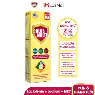 [HỘP DÙNG THỬ] Sữa bột Colosmulti Grow IQ phát triển chiều cao và trí thông minh cho trẻ hộp 2 gói x 16g thumbnail