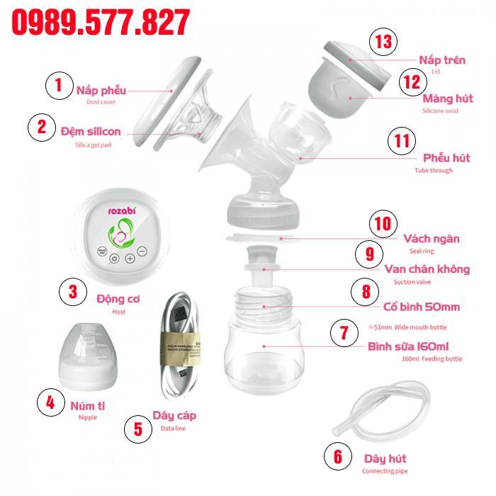 Phụ kiện máy hút sữa Rozabi Basic