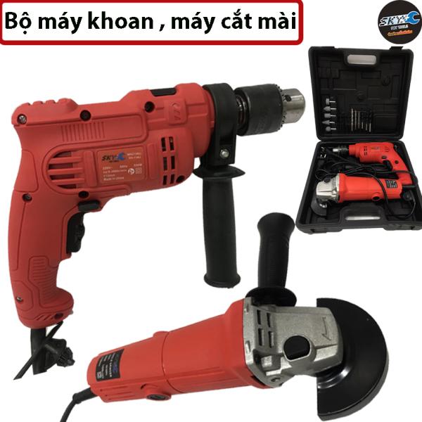 Bộ khoan cắt cầm tay , bộ máy khoan và máy cắt mài tiện dụng , Dùng điện 220v thông dụng,  thích hợp dùng gia đình ( mã 95613 )
