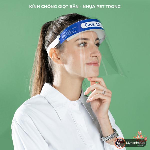 Giá bán Kính chống giọt bắn trong suốt nhựa PET - Chống hơi thở sương mù làm mờ kính Face Shield