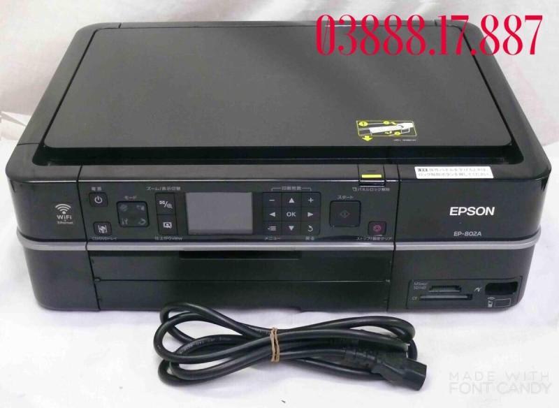 Máy in ảnh thẻ 6 màu EPSON 802a in ảnh thẻ in chuyển nhiệt